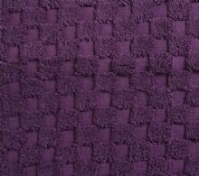 Luxurious linenHall, 850gsm 100% Cotton Reversible Bath Mat in Aubergine